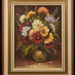 Картина маслом Букет цветов, натюрморт, , сер. 20 в.