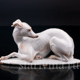Статуэтка собаки из фарфора Левретка, Rosenthal, Германия, 1935 г.